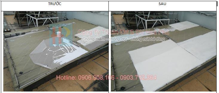 trước và sau khi dùng vật liệu chống rỉ sét